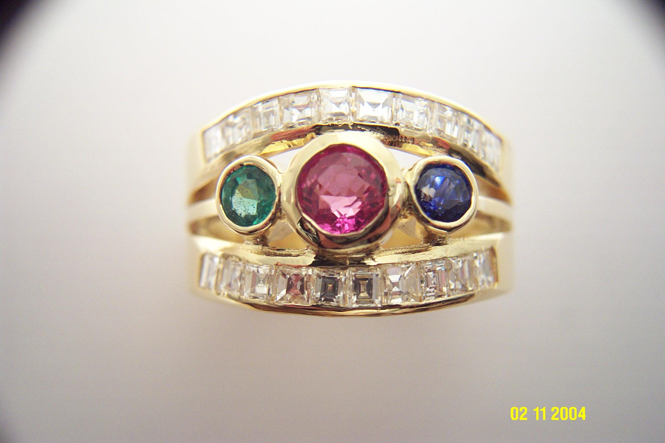 Dieser Ring sah vorher so aus.